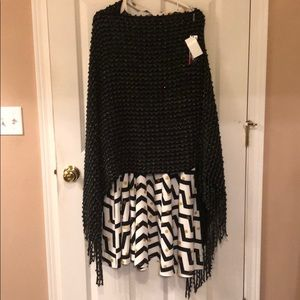 Glittery dress/sweater poncho outfit